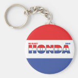 Vote Honda 2010 Elections Red White and Blue Basic Round Button Keychain