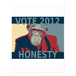 Vote Honesty 2012 Postcard