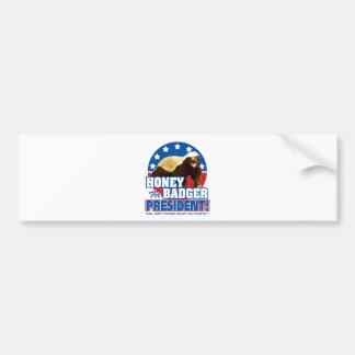 Vote Honey Badger For President Bumper Sticker