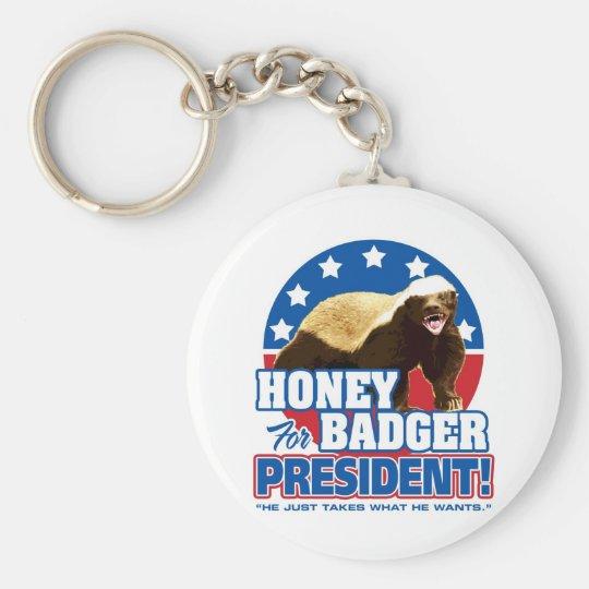 Vote Honey Badger For President Keychain