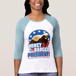 Vote Honey Badger For President Tee Shirts