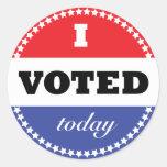 Voté hoy al pegatina