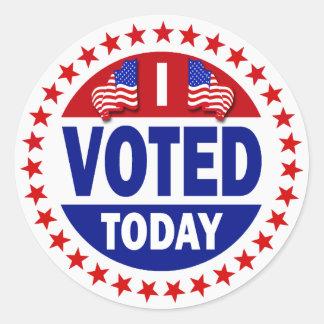 Voté hoy pegatina redonda
