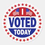 Voté hoy pegatinas
