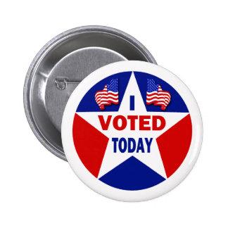 Voté hoy pin redondo de 2 pulgadas