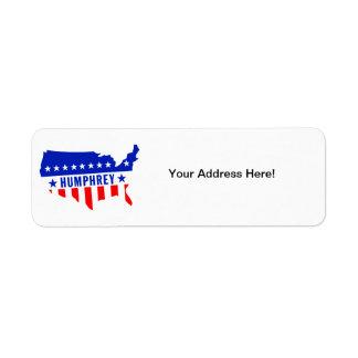 Vote Hubert Humphrey Label