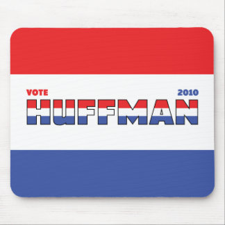 Vote Huffman 2010 Elections Red White and Blue Mouse Pad