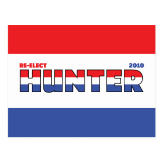 Vote Hunter 2010 Elections Red White and Blue Post Cards