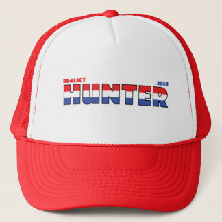 Vote Hunter 2010 Elections Red White and Blue Trucker Hat