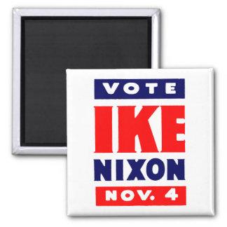 Vote Ike, Nixon in 1952 2 Inch Square Magnet