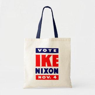 Vote Ike, Nixon in 1952 Bag
