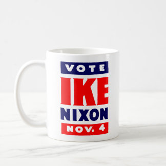 Vote Ike, Nixon in 1952 Coffee Mug