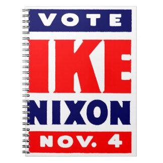 Vote Ike, Nixon in 1952 Note Book