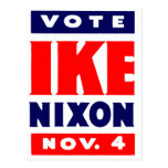 Vote Ike, Nixon in 1952 Post Cards