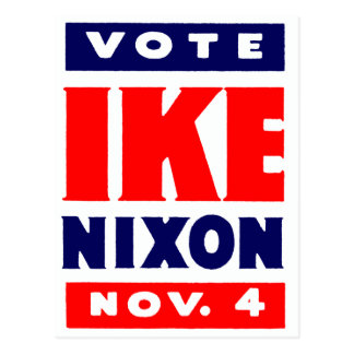 Vote Ike, Nixon in 1952 Postcard