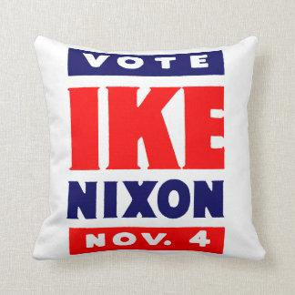 Vote Ike, Nixon in 1952 Throw Pillows