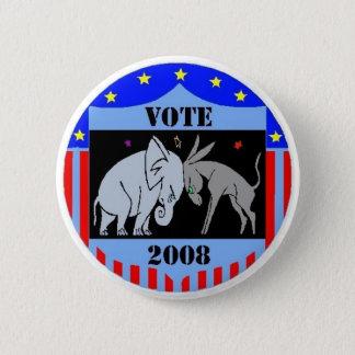 VOTE IN 2008 BUTTON REPUBLICAN DEMOCRAT POLITICS