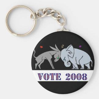 VOTE IN 2008 KEYCHAIN DEMOCRAT REPUBLICAN POLITICS