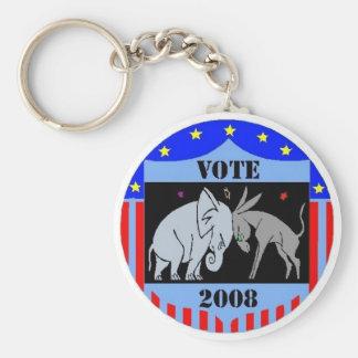 VOTE IN 2008 KEYCHAIN REPUBLICAN DEMOCRAT POLITICS