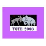 VOTE IN 2008 POSTCARD DEMOCRAT REPUBLICAN POLITICS