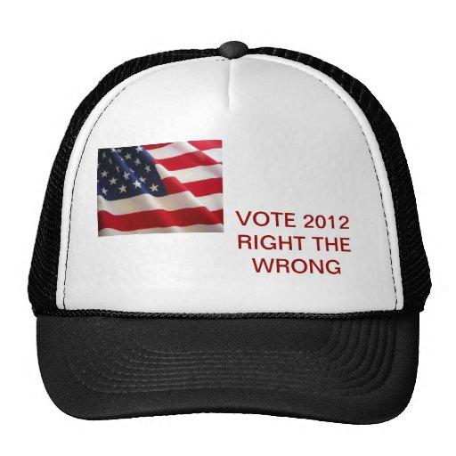 VOTE IN 2012 TRUCKER HAT