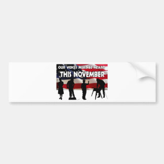 Vote in November Bumper Sticker
