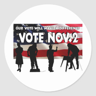 Vote in November Classic Round Sticker