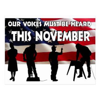 Vote in November Postcard