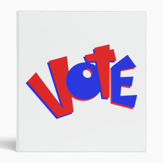 VOTE in red and blue text bouncy election swag Vinyl Binders