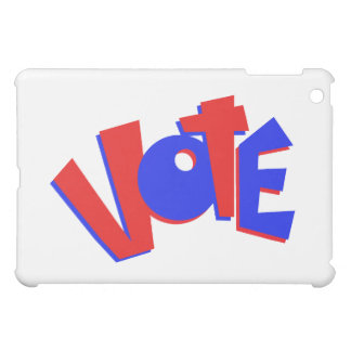 VOTE in red and blue text bouncy election swag Cover For The iPad Mini