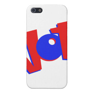 VOTE in red and blue text bouncy election swag iPhone 5 Case