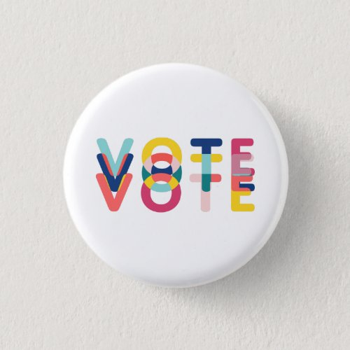Vote in Vibrant Rainbow Modern Button