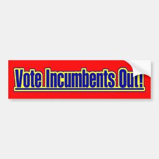 Vote Incumbents Out Bumper Sticker Car Bumper Sticker