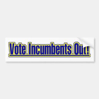 Vote Incumbents Out Car Bumper Sticker