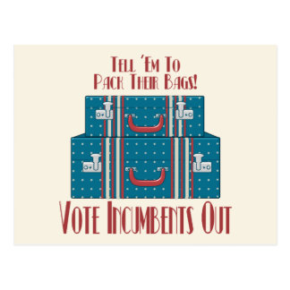 Vote Incumbents Out Postcard