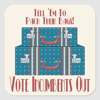 Vote Incumbents Out Square Sticker