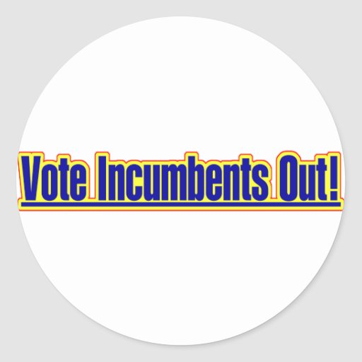 Vote Incumbents Out Sticker