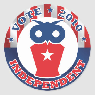 Vote Independent 2010 Sticker