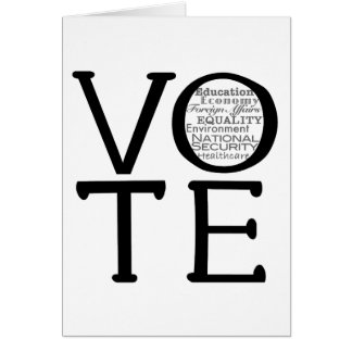 Vote Issues Greeting Cards