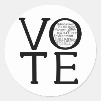 Vote Issues Classic Round Sticker