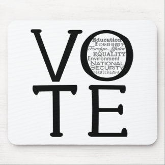 Vote Issues Mouse Pad