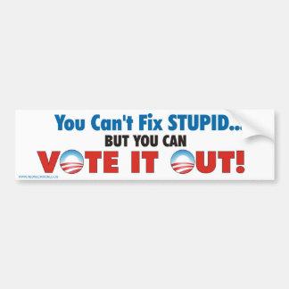 Vote it out car bumper sticker