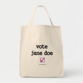 """""""Vote Jane Doe"""" Tote Tote Bag"""