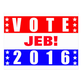 Vote Jeb 2016 Presidential Election Postcard