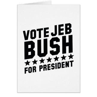 Vote Jeb Bush Card