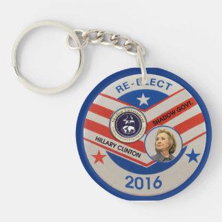 Vote Jeb Bush o a Hillary Clinton en 2016 Llavero Redondo Acrílico A Doble Cara
