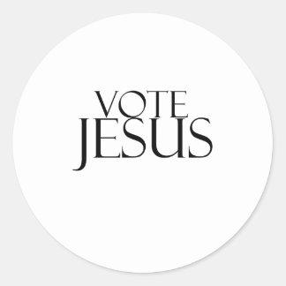 Vote Jesus Classic Round Sticker