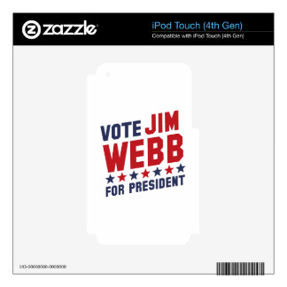 Vote Jim Webb Decal For iPod Touch 4G