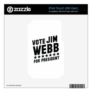 Vote Jim Webb iPod Touch 4G Decal