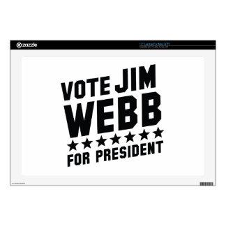 Vote Jim Webb Laptop Skins